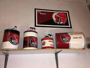Red Indian Oil Cans & Sign  London Ontario image 1