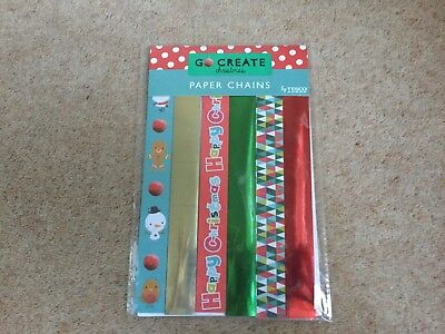 90 Assorted Paper Chains Christmas Design Strips Party Decoration Art Craft Fun  - Halloween Paper Chain Crafts