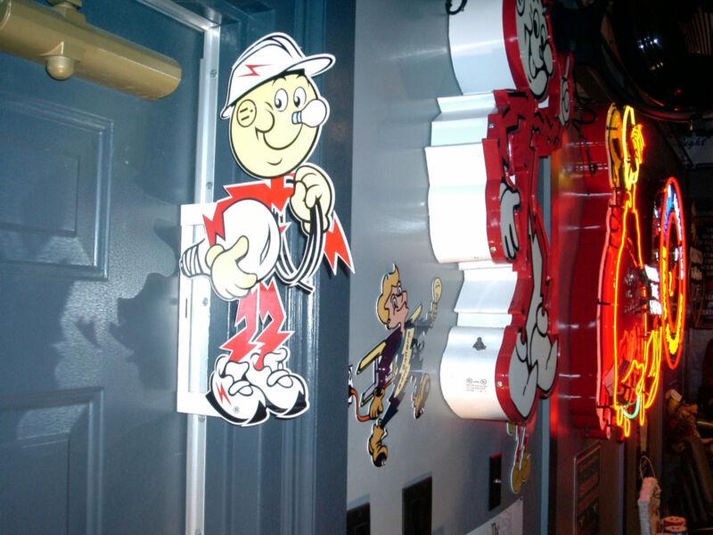 Reddy Kilowatt 2 SIDED Power Electric Company Light Company ELECTRICIAN GIFT