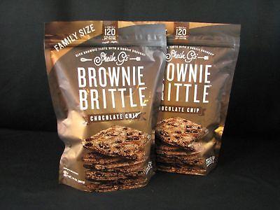 Kosher Brownie - Sheila G's BROWNIE BRITTLE Chocolate Chip Crispy Crunch 14 oz - 2 BAGS