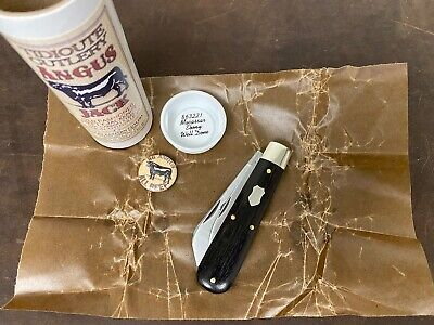 Great Eastern Cutlery 863221 Macassar Ebony Well Done Angus Jack Knife GEC