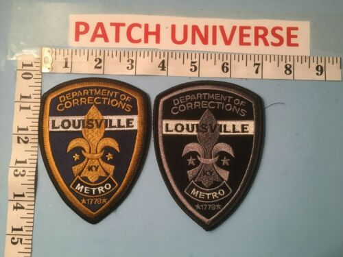 LOT OF TWO DIFFERENT LOUISVILLE KY CORRECTIONS  SHOULDER PATCHES   G059