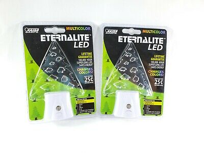 2 Pack Feit Electric Eternalite Color Changing LED Pine Tree Night Light Set of2