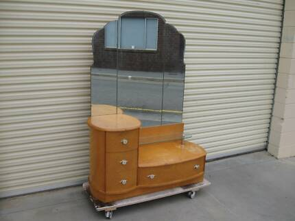 Dressing table with mirror in the art deco style Adelaide CBD Adelaide City Preview