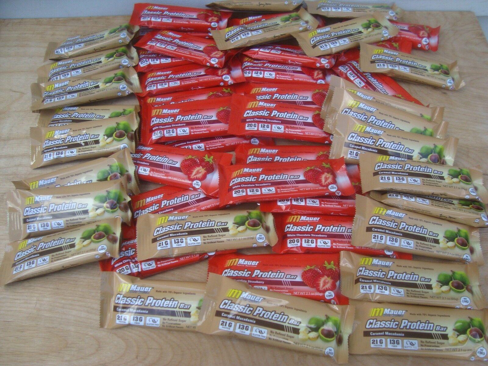 48pcs Mauer Organic Nutrition Protein Bars Lot Bulk Assor...