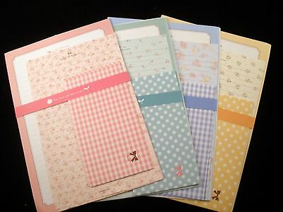Pretty Flower Letter Set - Cute Romantic Korean Stationery Kawaii writing paper