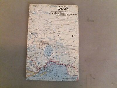 VINTAGE NATIONAL GEOGRAPHIC MAP Central Canada
