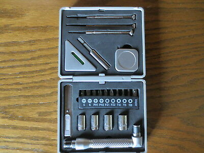 23 Piece Mini Tool Set in Silver Metal Case