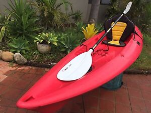 KYAK SEAK SWIFT WITH PADDED SEAT ROD HOLDERS AND PADDLE Ashmore Gold Coast City Preview