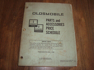 Oldsmobile Parts and Accessories Price Schedule June 1 1982 JWIO