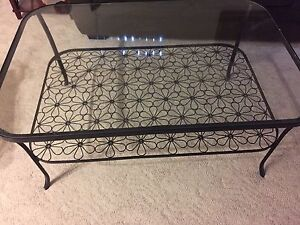 Glass coffee table. $100 OBO