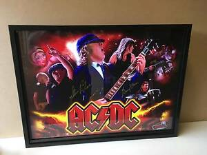AC/DC pinball backglass with remote LED frame Essendon Moonee Valley Preview