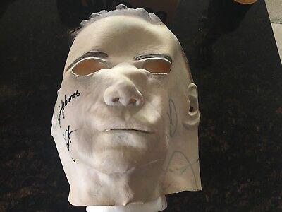 Michael Myers Mask Signed John Carpenter Jaime Lee Curtis Irwin Yablans PSA Auto