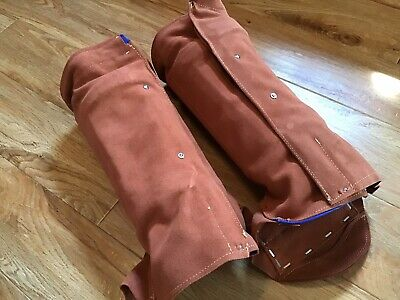 Leather Spats Welding Leggings Protective Shoes Feet Cover Welder Guard Line New