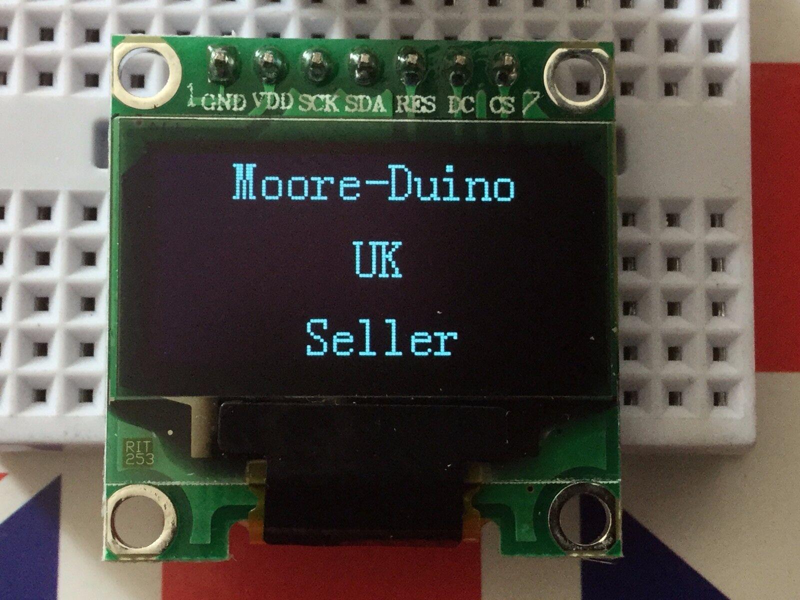 "1.3/"" 128x64 SPI OLED Display Module for Arduino uno Mega etc White"