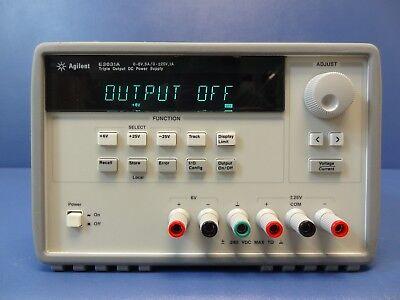 Agilent E3631a 80w Triple Output Power Supply 6v 5a 25v 1a