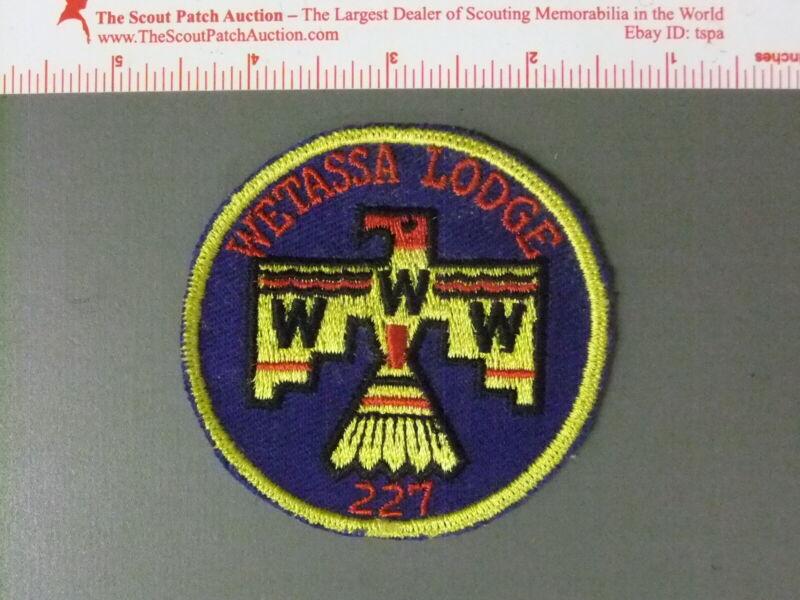 Boy Scout OA 227 Wetassa Lodge Round 7437JJ