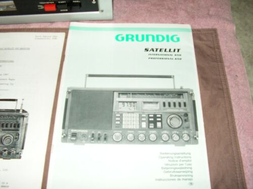Grundig 650 Documentation...Owners/service manuual, ETC.