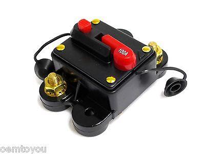 100 Amp Circuit Breaker Resetable Amplifier Inline Fuse 12v Dc For Car Audio