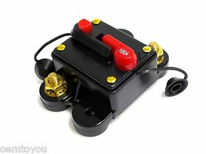 100 AMP Circuit Breaker Resetable Amplifier Inline Fuse 12V DC for Car Audio