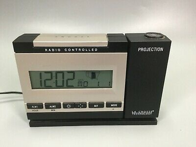 LaCrosse Technology Radio Controlled Projection Alarm Clock Model WT-5720