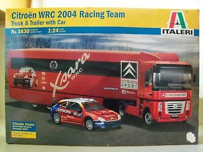 ITALERI CITROEN WRC 2004 RACING TEAM TRUCK TRAILER RALLY CAR MODEL KIT