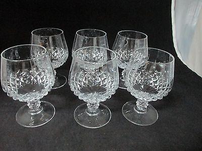 Vintage Cristal d'Arques Longchamp Brandy Glass/Snifter Set of 6