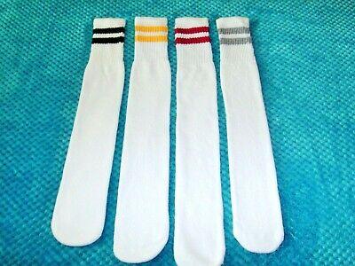 Old School Retro Tube Socks Size L 10/13 Fit Men Shoe Sizes  8 -12  Women 10 -13