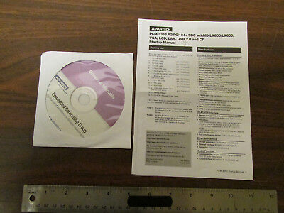 Advantech Pcm-3353 Pc104 Sbc Software Disk And Manuals No Computer Nos