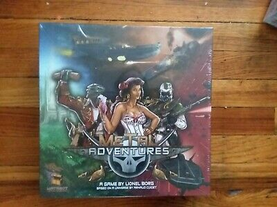 Metal Adventures Board Game New in Shrink by Matagot games