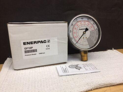ENERPAC GF10P HYDRAULIC PRESSURE GAUGE RC-10 TON CYLINDERS 1