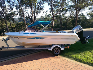 Eagle 90 hp 2 stroke 5 metre runabout family boat Blaxland Blue Mountains Preview