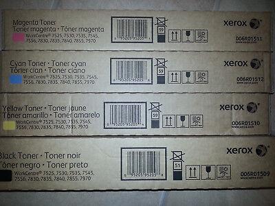 Xerox Toner Set CMYK WorkCentre 7535 7845 7545 7830 7855 7556 7970 006R01509 NEU