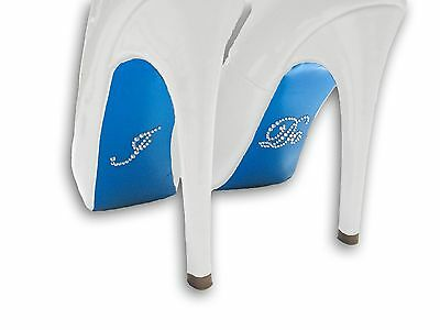 """Customize Your Shoe Soles! DIY """"I DO"""" Blue Stickers - Louboutin Bottom and More!"""