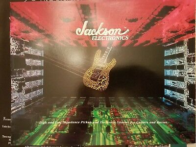 1987 Jackson Guitars and Basses Pickups & Electronics Catalog Case Candy for sale  Shipping to India