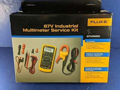 New Fluke 87v 87vimsk Industrial Multimeter Service Kit With I400 Clamp