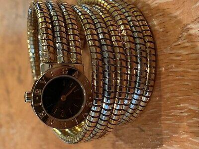 Bulgari Tubogas Serpenti  Wrist Watch Solid 18K Case Bi-Gold (Bvlgari 18k Gold Case)