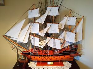 Spanish Galleon Navy Ship Model - Great gift for a Mariner