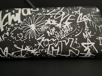 MICHAEL KORS Zip Around ZA Graffiti WALLET Purse