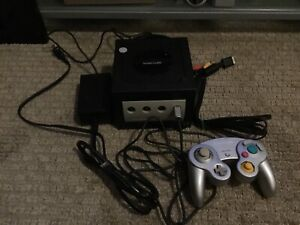 GameCube console with hook ups