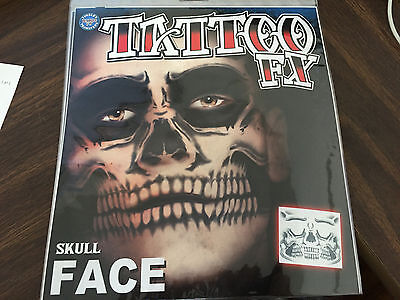 NEW: Halloween Tinsley Tattoo FX Face, Arm Tattoos, Zebra, Skull, Makeup - Zebra Halloween Makeup