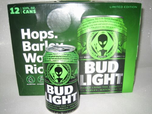 BUD LIGHT GREEN ALIEN AREA 51 CAN LIMITED EDITION EMPTY EARTH CAN