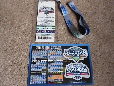 2018 Triple-A Baseball National Championship Game Ticket Magnet Memphis Redbirds