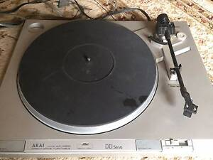 2 x  Vintage Akai Direct Drive 1980s Turntables Made in Japan Concord Canada Bay Area Preview