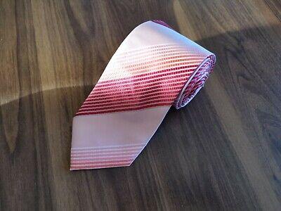 Katharine Hamnett London Pink Salmon Striped Men's Tie Classic Quality 100% Silk