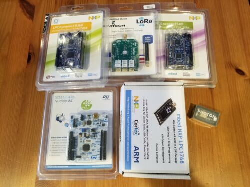 Set of Arduino Mbed Particle development boards NXP, NUCLEO, LoRa, Photon