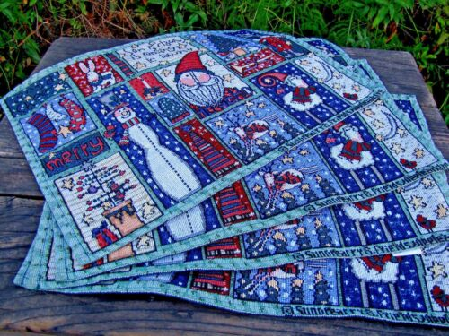 Christmas Placemats Tapestry for Holiday Table Decoration 4 pc