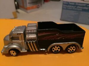 1999 Hot Wheels Power Pipes 6-Wheel Semi Truck Mattel 4 3/4""
