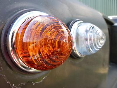 Series 1 2 2a 3 Lucas L594 FrontRear Indicator Light Glass Lens Unit Land Rover