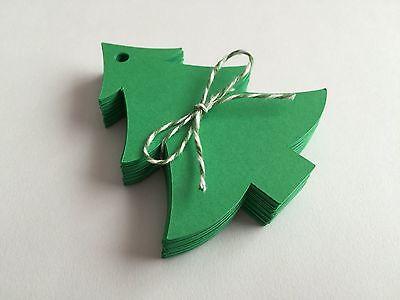 50 Green Christmas Tree Tags, Gift Tags, Scrapbooking, Card Making ()